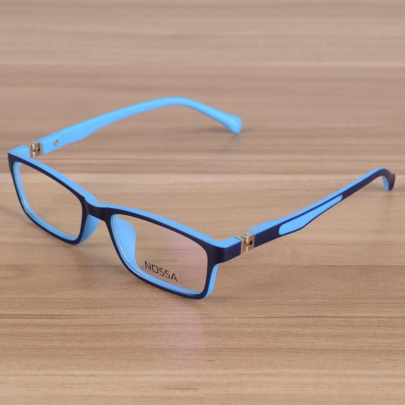 Kids Eyeglasses Children Unbreakable TR90 Glasses Frame Optical Prescription Eyewear Frames Girls Boys Blue Patchwork Glasses