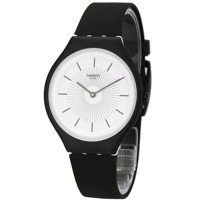 Swatch SKIN series Stylish black quartz watch for men and women SVUB100 кошельки domenico morelli портмоне без монетника амадей черный