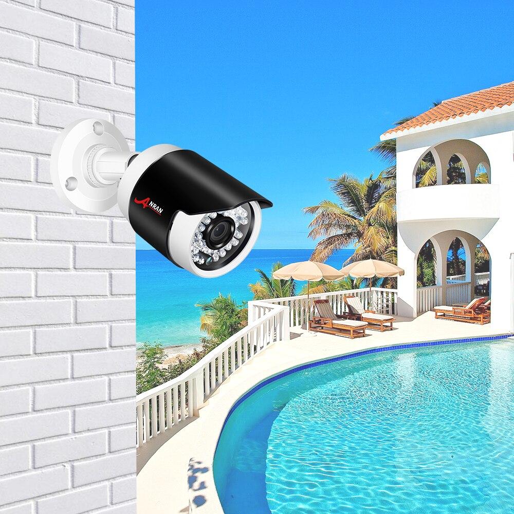 ANRAN ONVIF 5.0MP POE IP Camera 1944P Security Camera H.265 IR Cut Night Vision Video Surveillance Camera Security Alarm Camera
