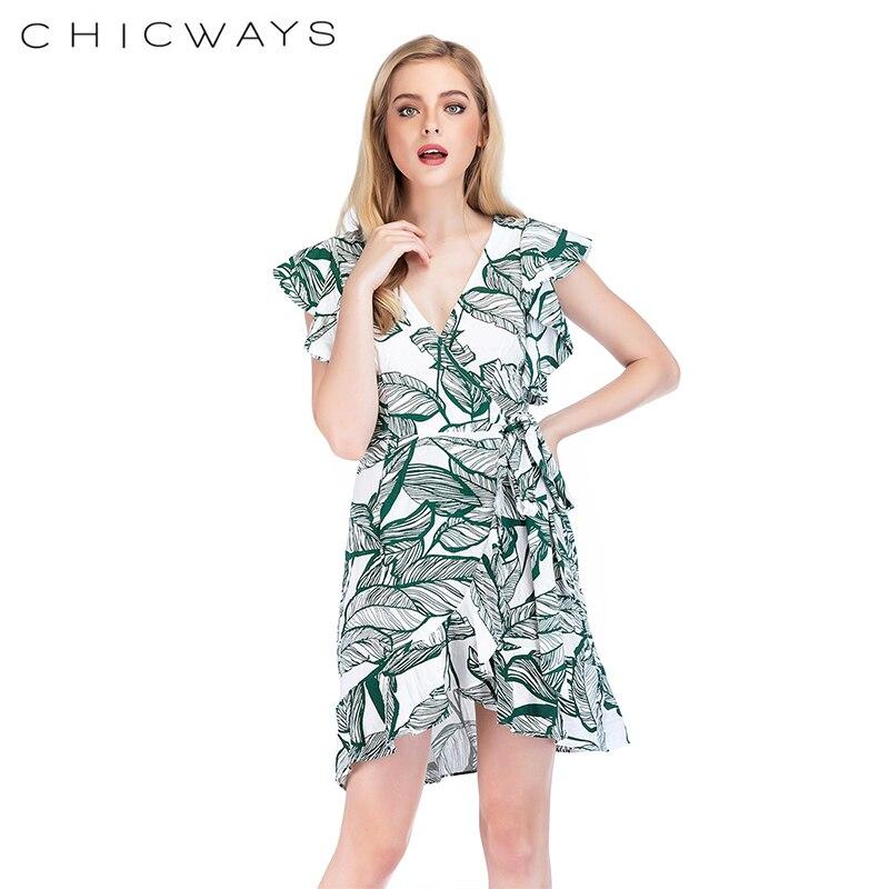 Papillon manches décontracté arc imprimé naturel femmes sexy plage Mini T-Shirts Camis mode femmes dames d'été blouse