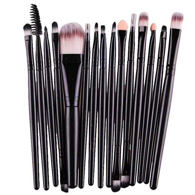 15 pcs/Sets Eye Shadow Foundation Eyebrow Lip Brush Makeup Brushes set Tool Professional Powder Blush Highlighter Blending brush кисть tony moly professional blending shadow brush 1 шт