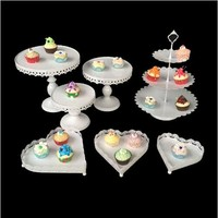 White Crystal Metal Cake Holder Cupcake Stand Birthday Wedding Display Wedding Cupcake Stand Candy Bar Decorations
