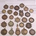 100 грамм, смешанные дизайны, подвеска из античной бронзы и цинкового сплава, основа для кабошона, ювелирные аксессуары