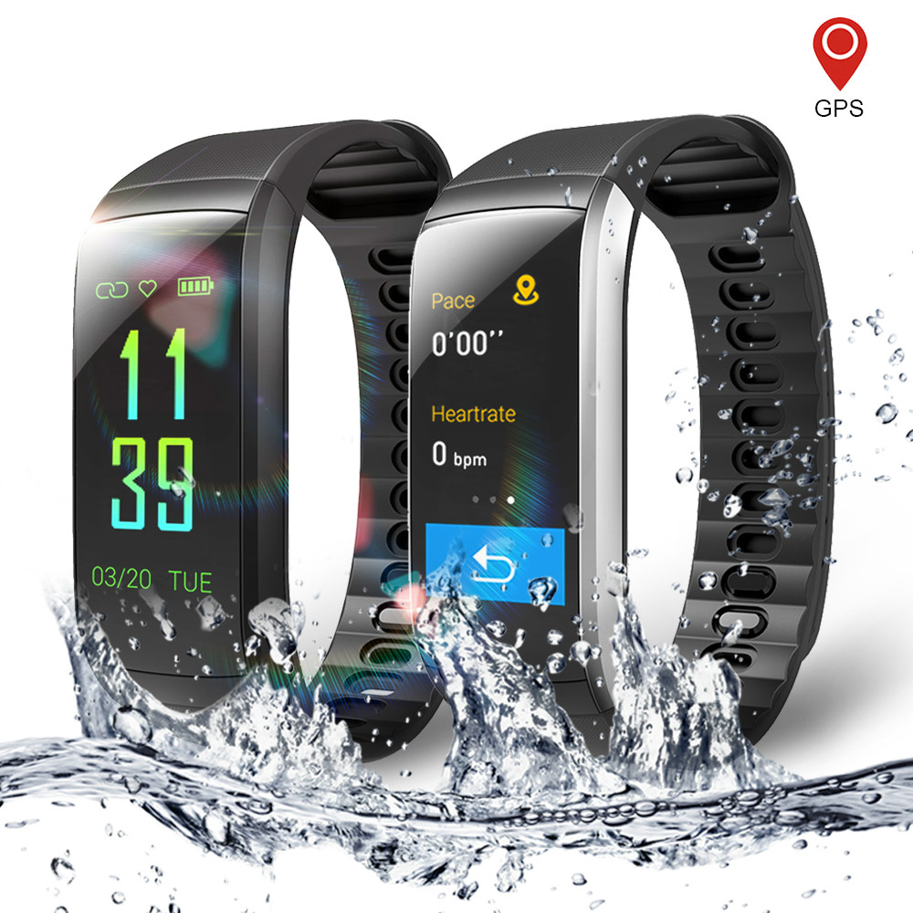 KR02 IP68 Waterproof Fitness Bracelet GPS Smart Band Heart Rate Monitor Watch Activity Tracker 3 for Xiao Mi Android IOS Phone maxinrytec kr02 fitness bracelet ip68 waterproof gps smart band heart rate monitor activity tracker watch pk mi band 3 for men