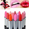 Korean New Arrival Waterproof Elegant Daily Color Lipstick matte smooth lip stick lipgloss Long Lasting Sweet girl Lip Makeup