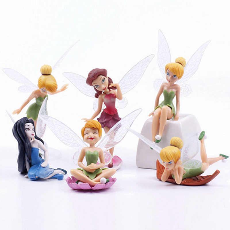 6 Buah/Set Peri Taman Miniatur DIY Ornamen Dekorasi Kerajinan Patung Mikro Lanskap Dropshipping