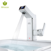 3000W Instant Hot Water Tap Electric Water Heater Ceramic LCD Digital Display Tankless Electric Faucet for Bathroom Kitchen