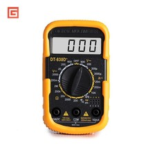 Mini Portable Digital Multimeter Small Pocket Counts AC/DC Volt Amp Ohm Diode Continuity Tester Ammeter Voltmeter Multitester richmeters rm100 multimeter 4000 counts back light ac dc ammeter voltmeter ohm 9 999mhz frequency diode