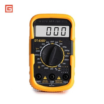Mini Portable Digital Multimeter Small Pocket Counts AC/DC Volt Amp Ohm Diode Continuity Tester Ammeter Voltmeter Multitester frequency electrical tester diode detector digital handheld multimeter auto range protection ac dc ammeter voltmeter ohm