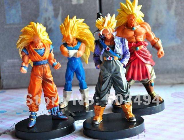"Free Shipping EMS 20/LOT 5.5 ""Anime Dragon ball Z Trunks Goku Vegito PVC Figures Toy NEW (4pcs/set)"