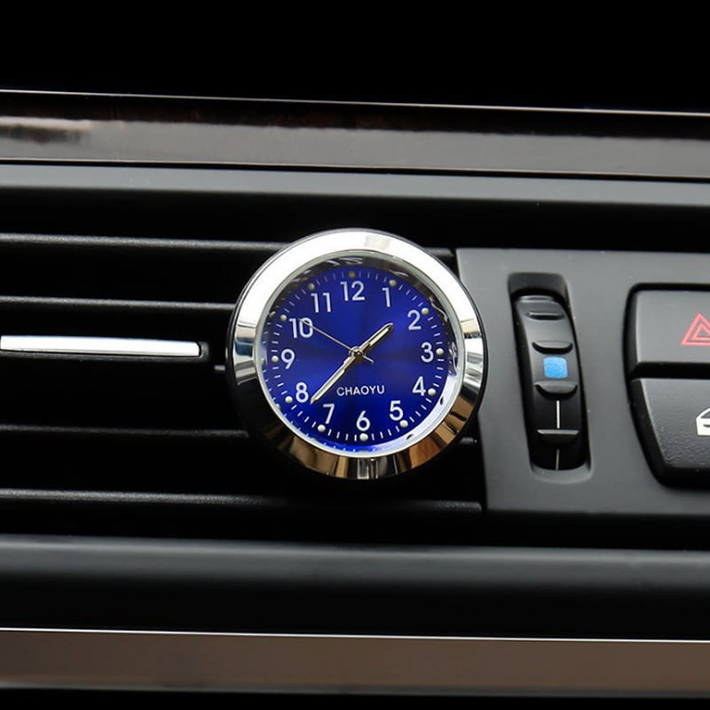 2 In 1 Function Car Luminous Ornament Clock Interior Decoration Air Freshener Car Clock Auto Watch Automotive Vents Clip New