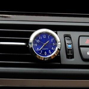 Clocks 2 in 1 Function Car Luminous Ornament Interior Decoration Air Freshener Car Clock Auto Watch Automotive Vents Clip New
