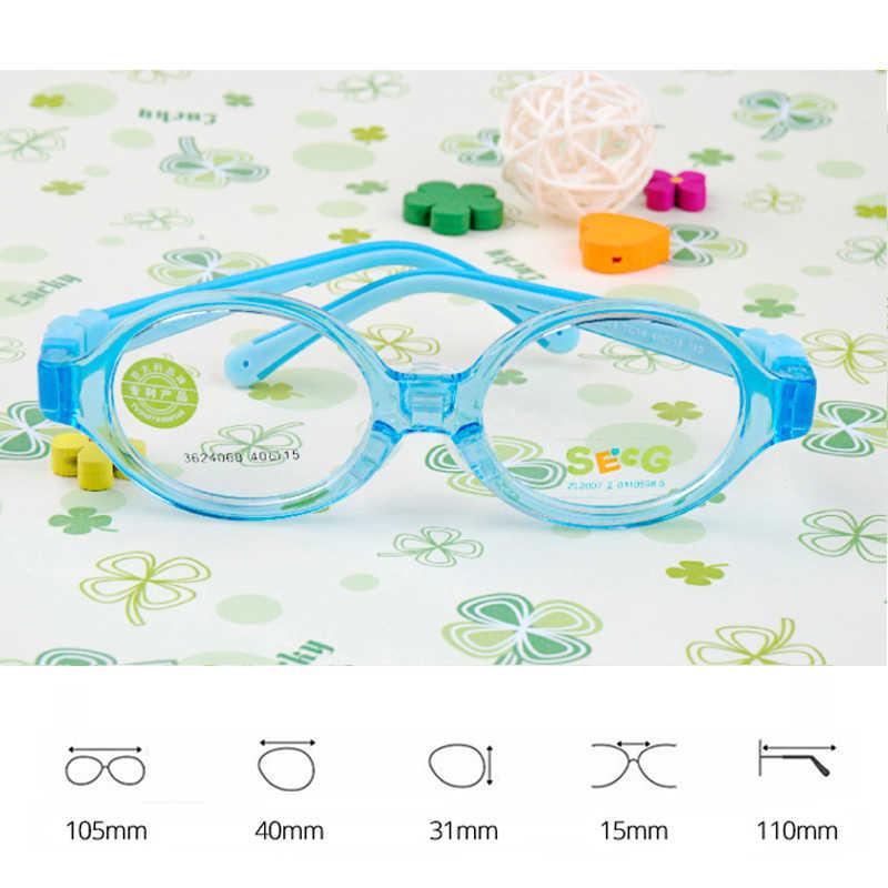 SECG maluch dziecko okrągłe słodkie elastyczne dzieci ramki miękkie Ultralight odpinany dzieci ramki silikonowe noski dioptrii okularów