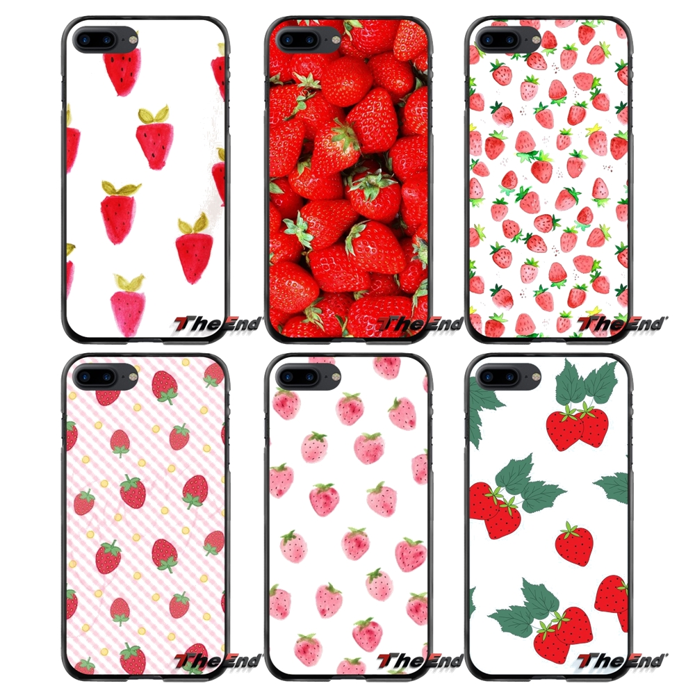For Apple iPhone 4 4S 5 5S 5C SE 6 6S 7 8 Plus X iPod Touch 4 5 6 Fruit Strawberry Accessories Phone Shell Covers