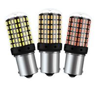 WTS 10PCS auto T20 7440 W21W W21/5W led Bulbs 3014 144smd CanBus 1156 BA15S P21W LED BAY15D BAU15S PY21W lamp Turn Signal Light