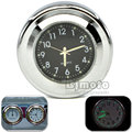BJGLOBAL Universal Motorcycle Accessory Windscreen Watch Waterproof Clock Black  Dirt Bike