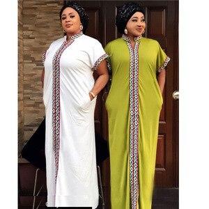 Image 4 - Африканские платья для женщин, традиционное Африканское длинное платье Bazin, африканская одежда с вышивкой, Дашики, платье для женщин