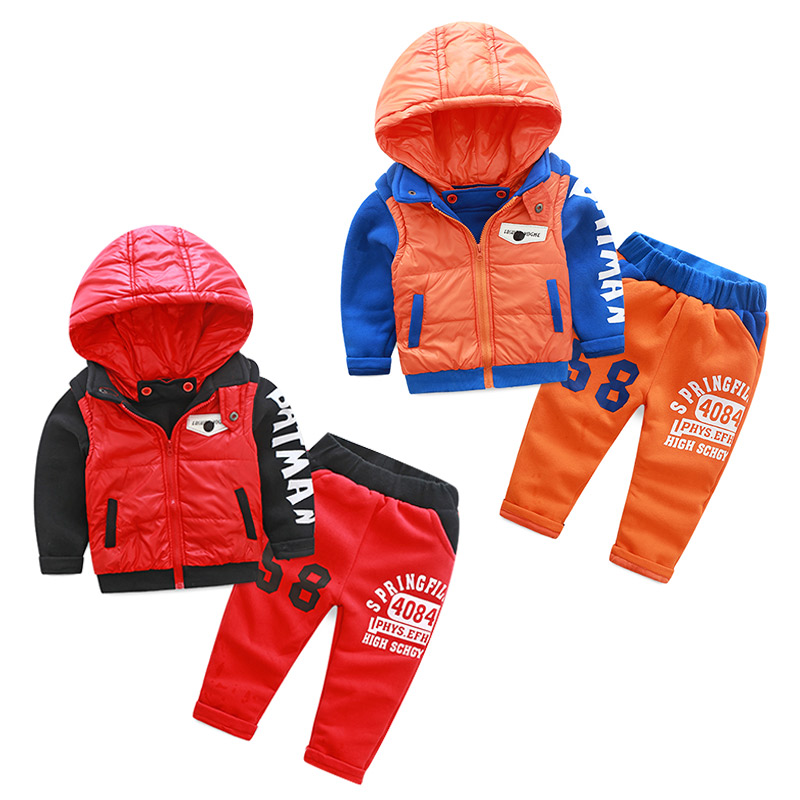 tz-2009 Korean version of the new 2017 winter baby children letters plus velvet thickened  Sets ежик jackie chinoco кельвин 23 см 60554 9