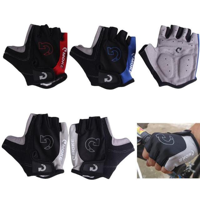 1 par metade do dedo luvas de ciclismo gel bicicleta equitação luvas anti deslizamento para mtb estrada mountain bike luva anti choque esporte 1
