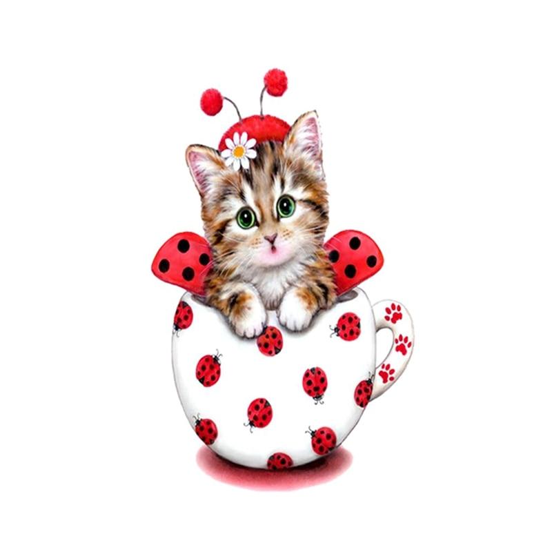New Handicrafts Cute Cat 5D Diy Diamond Painting Cross Stitch Animal Diamond embroidery Mosaic European Home Decor