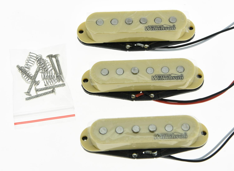 Cream Wilkinson Lic ST Strat Vintage Voice Single Coil Pickups Fits For  Stratocaster cream wilkinson lic st strat vintage voice single coil pickups fits for stratocaster