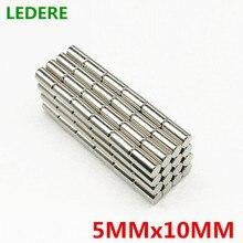 LEDERE 50pcs 5mm x 10mm Super strong round neodymium magnet 5x10 N35 rare earth permanent magnet