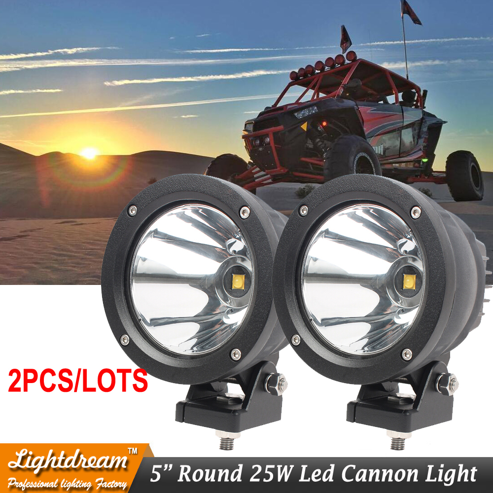 Offroad Lighting 9150970 Cannon Exterior LED Driving Light Black 9 32V 25W 4 7 5Inch Round