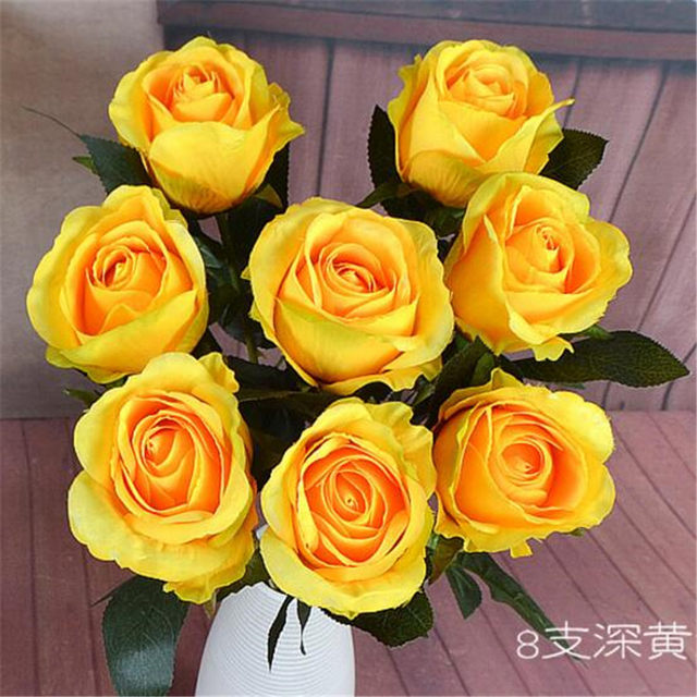 Online shop 10p fake rose flower single stem australia roses popular 10p fake rose flower single stem australia roses popular color for wedding centerpieces christmas party home decorative flowers junglespirit Image collections