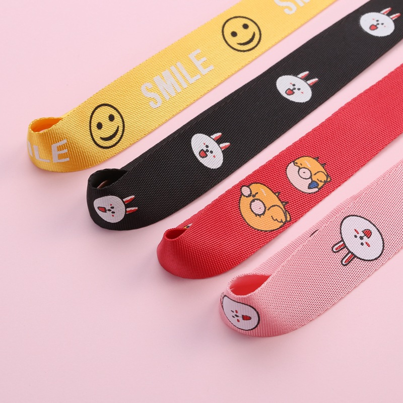 Image 2 - Multicolour Anime Cartoon Wrist Strap Hand Lanyard For ID Card  USB Mobile Phone Straps Detachable Multifunction Strap keychain-in Mobile Phone Straps from Cellphones & Telecommunications