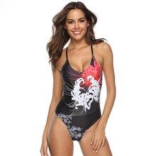 Купить с кэшбэком Padded Bra Push Up Bikini 2019 Highcut Swimsuit Female Solid Sexy Bathing Suit Ribbed One-piece Suits Backless Bodysuit Swimwear