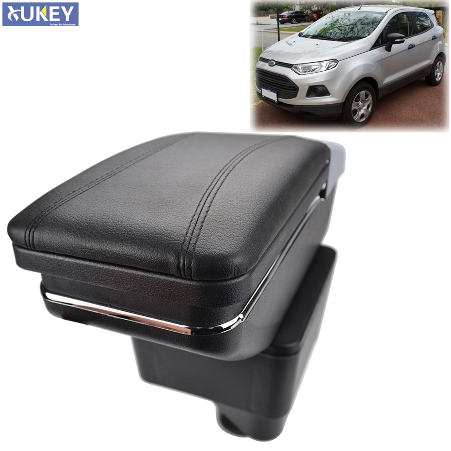 Center Centre Console Arm Rest Rotatable For Ford Ecosport 2013-2017 Storage Box Armrest 2014 2015 2016