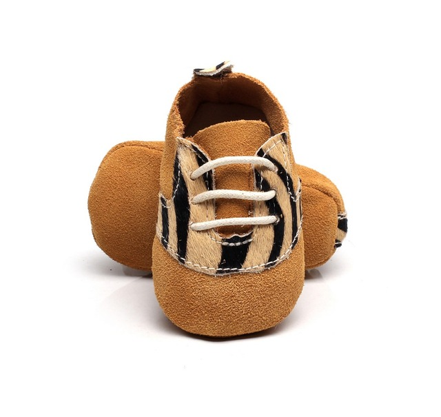 2017 New Spring arrived 7 colors genuine leather baby moccasins lace up leopard pattern Design soft sole girl boy baby shoes