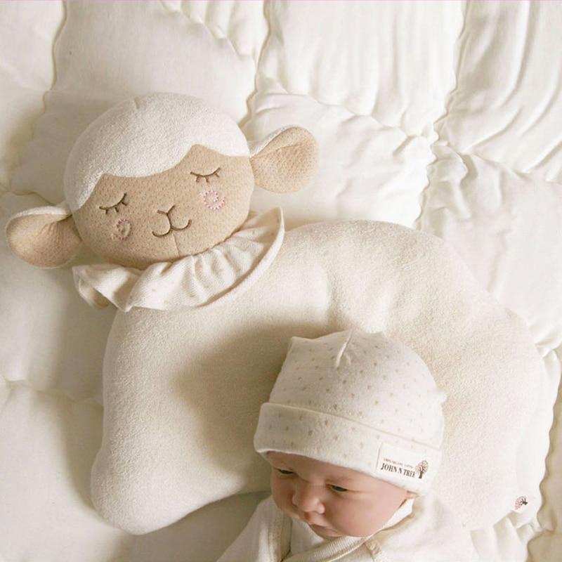Cute Lamb Style Cotton Baby Pillow Newborn Infant Sleep