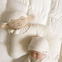 Cute Lamb Style Cotton Baby Pillow Newborn Infant Sleep Positioner Prevent Flat Head Support Cartoon Shaping Pillow for Babies
