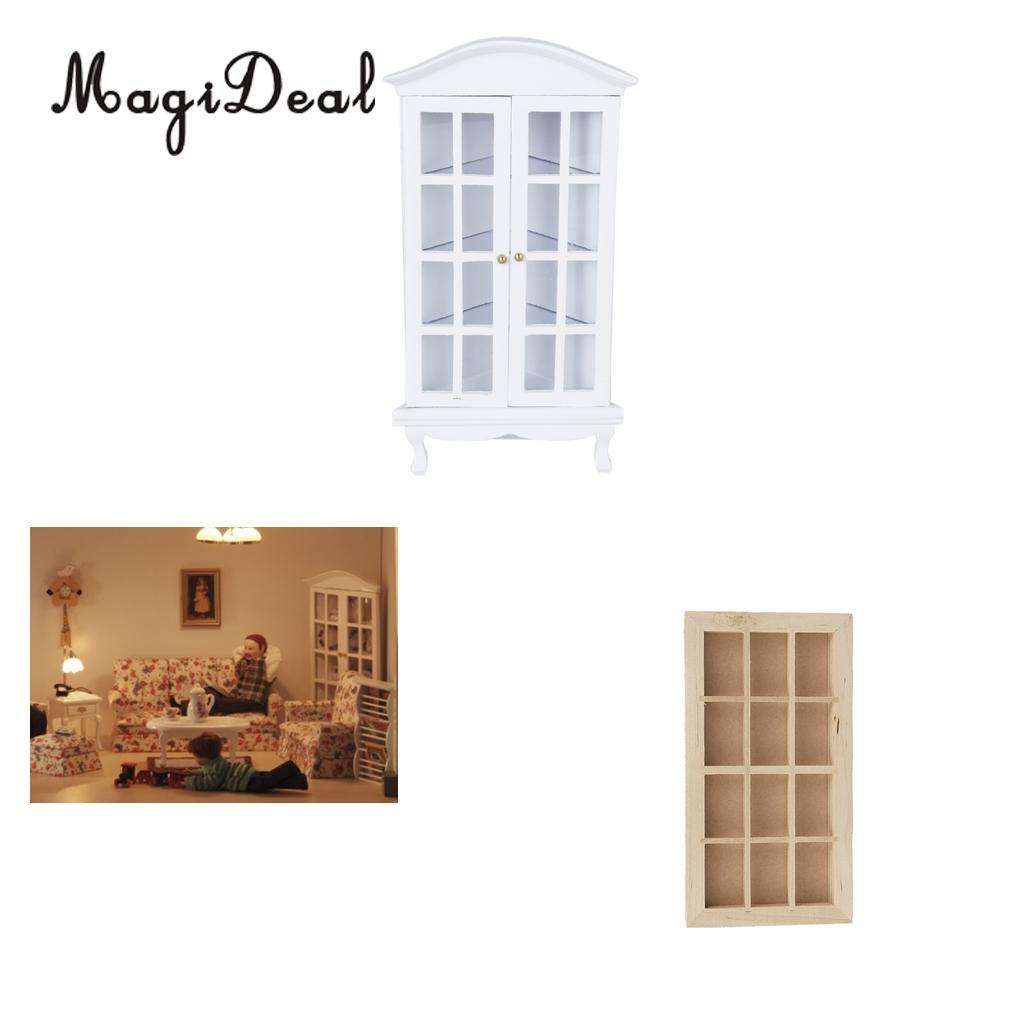 2pcs Lot Doll House Window 1 12 Scale Wood Miniature Dollhouse Dolls Wiring Kit Magideal 112 Wooden Pane Frame For Bedroom