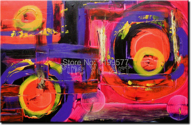 Abstract modern large canvas wall art handpainted decorative red font b Knife b font paint oil