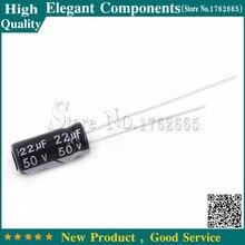 """50 יחידות 22 UF 50 V 50 V/22 UF קבל אלקטרוליטי 50 V 22 UF גודל 5*11 מ""""מ אלומיניום אלקטרוליטי capacitor"""