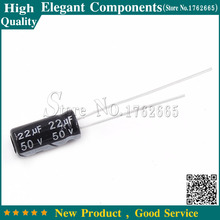 50 pcs 22 미크로포맷 50 V 50 V/22 미크로포맷 전해 콘덴서 50 V 22 미크로포맷 크기 5*11 MM 알루미늄 전해 커패시터