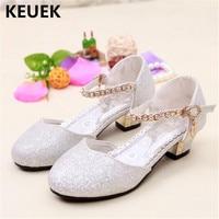 New Summer Leather Shoes Children Baotou Sandals Gladiator Buckle Strap Crystal Girls Dance Shoes Princess Baby Kids Sandals 04