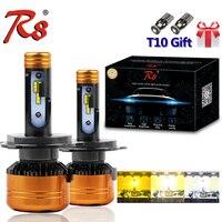 R8 New Design Z5 Dual Color Tricolor Car LED Headlight Bulbs H4 H13 9004 9007 50W 5800LM 3000K 4300K 6000K Good Quality 3 Colors