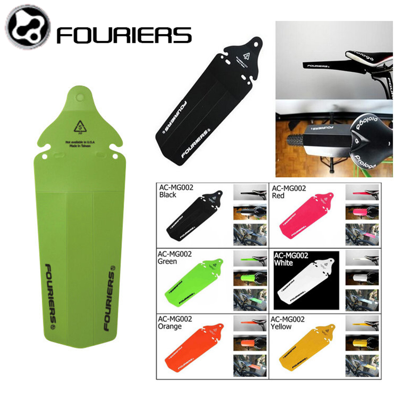1pcs Fouriers Black Rear Fenders Saddle Rail Fender Mud Guards For MTB DH Fixed Gear Mudguard PP Free Shipping