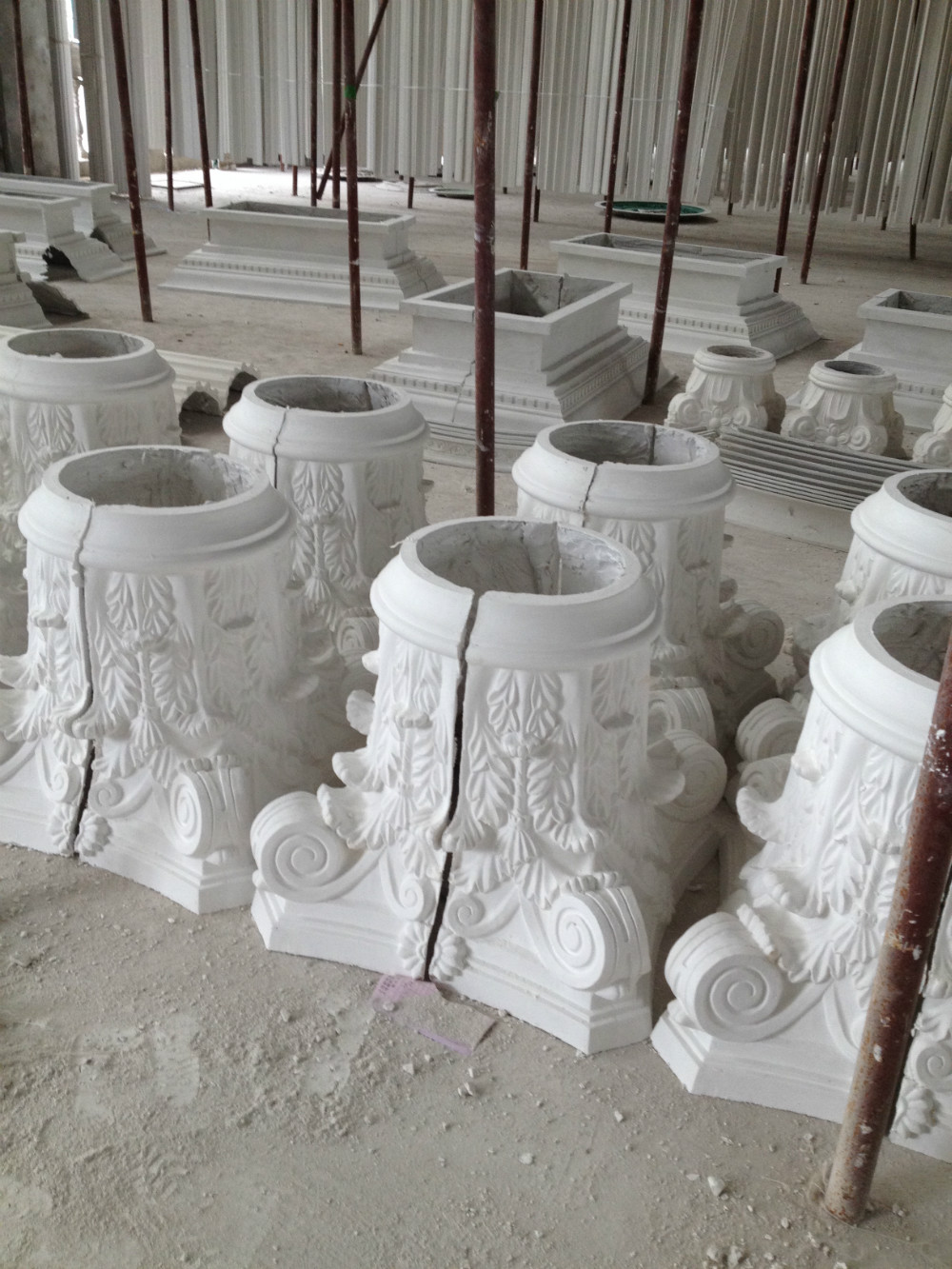 Glass Reinforced Gypsum Product : Hotel inside decoratin material glassfiber reinforced