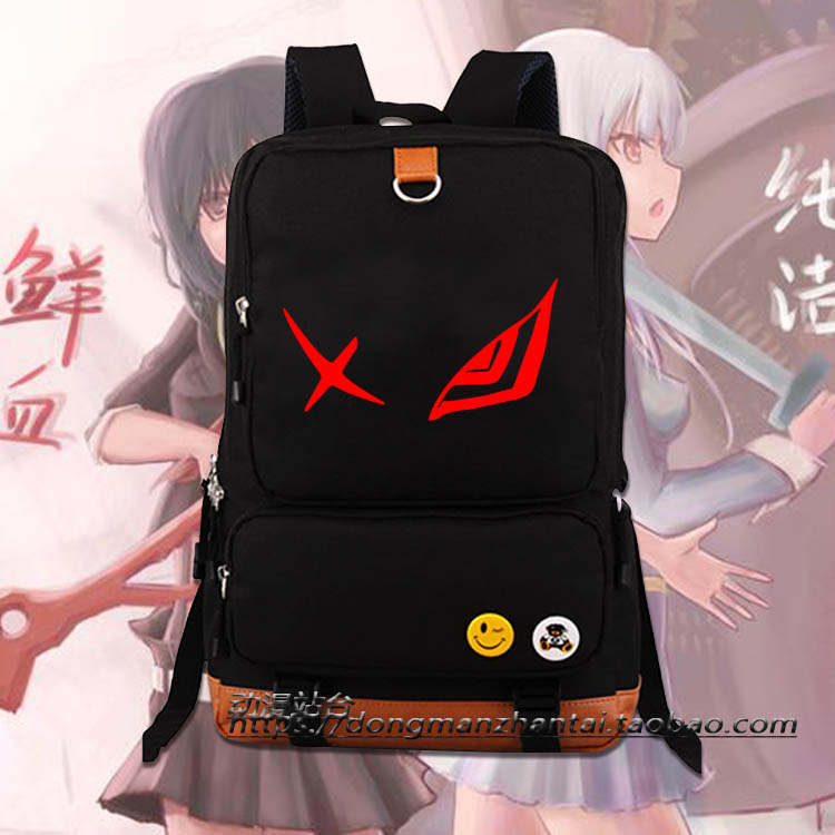 Anime KILL la KILL Cosplay Matoi Ryuuko Cos Luminous male and female student bag school canvas backpack child birthday gift korean version canvas shoulder bag backpack student bag ladies cartoon cute new child birthday gift