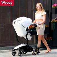 European Luxury Baby Stroller High View Prams Folding Poussette Kinderwagen bebek arabas