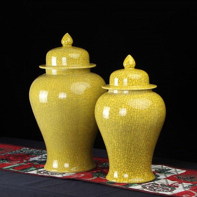 Jingdezhen Ceramic Temple Jar Antique Porcelain Ginger Jars Custom Decorative Jars Wholesale