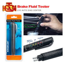 Auto Liquid testing Brake Fluid Tester pen 5 LED indicator display for DOT3/DOT4 mini electronic pen brake fluid tester Digital(China)
