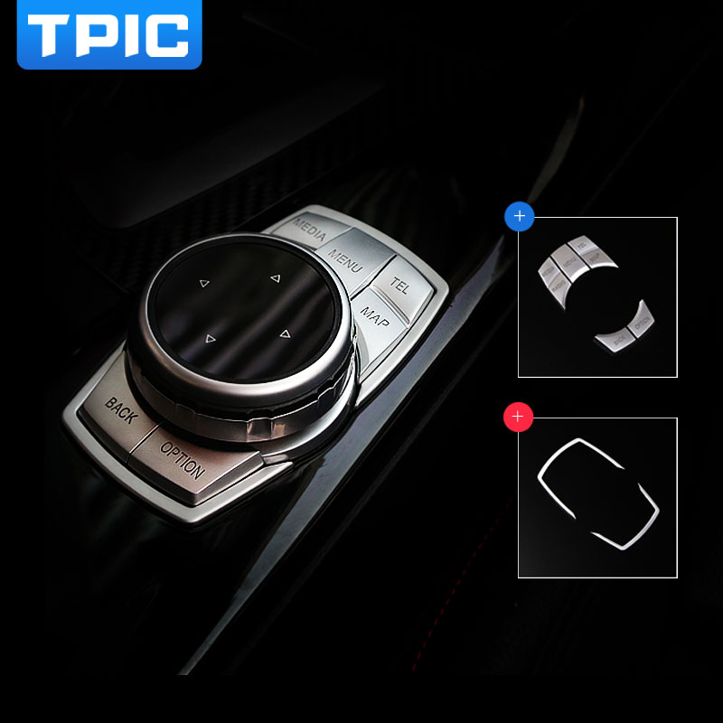 Car Interior Multimedia Buttons Cover Sticker Multimedia Knob Frame Decoration For Bmw F30 F10 F20 F25 F07 X1 X3 X5 X6 3 Series