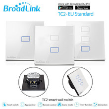 ФОТО Broadlink TC2 EU Switch 1Gang 2Gang 3 Gang Touch Switch Smart Home Automation Wireless Wifi Control LED Lights Wall Switch