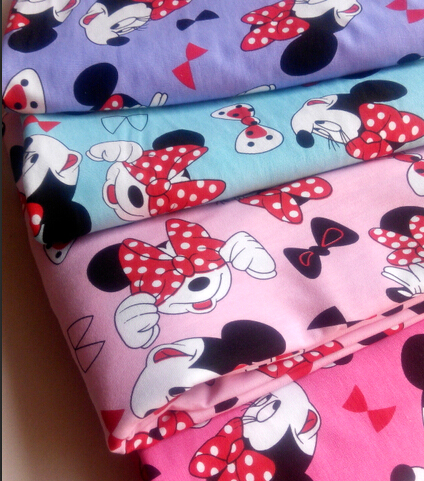 NEW width 180cm cotton Lycra fabric print Patchwork MK DIY clothes materials underwear fabrics Sewing Textile Tilda tecido