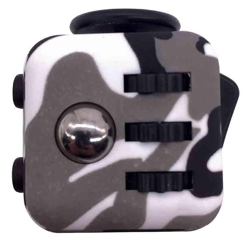 4 Colour Mini Fidget Cube Toy Vinyl Desk Finger Toys Squeeze Fun Stress Reliever 3 3cm